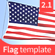 Flag Template Cinema 4D