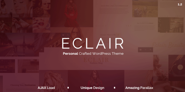 Eclair - Personal Crafted WordPress Theme - Personal Blog / Magazine