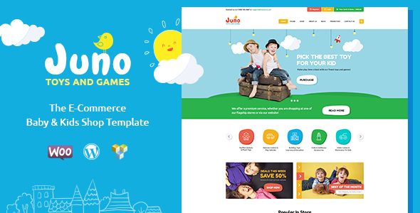 Juno | Kids Toys & Games Store WordPress Theme - WooCommerce eCommerce