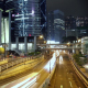 Night Traffic Near the Skyscrapers of Hong Kong City - VideoHive Item for Sale