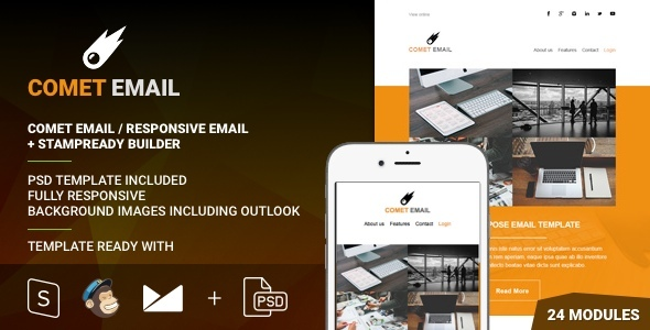 CometEmail - Responsive Email + StampReady Builder - Email Templates Marketing