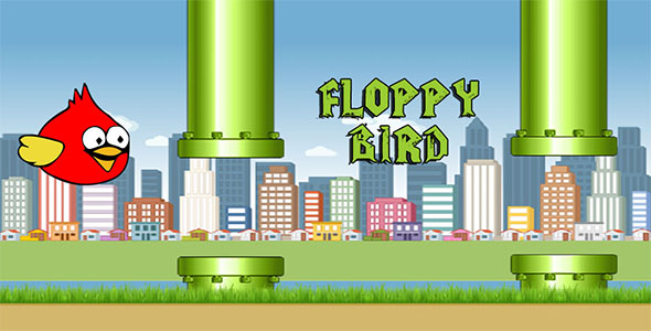 Floppy bird HTML5 canvas game - CodeCanyon Item for Sale