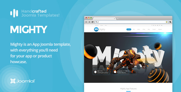 Image of IT Mighty - App & Product Showcase Joomla Template Gantry 5