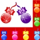 Christmas tree bulbs with bows - GraphicRiver Item for Sale