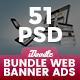 Bundle Web Design Banner Ads - 51 PSD [03 Sets]