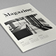 Minimal Black & White Magazine - GraphicRiver Item for Sale