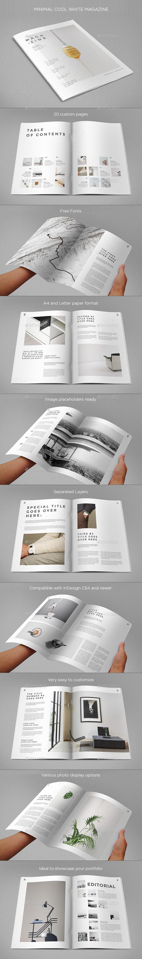 Minimal Cool White Magazine - Magazines Print Templates