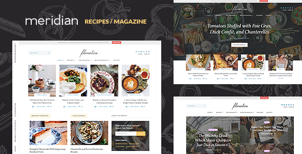 Meridian Recipes - Food/Recipes/Magazine WordPress Theme