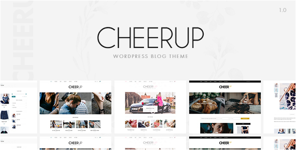 CheerUp Blog – Multi-demo Blog Theme