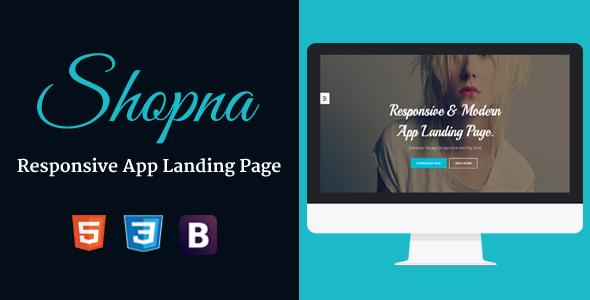 Shopna – Responsive App Landing Page