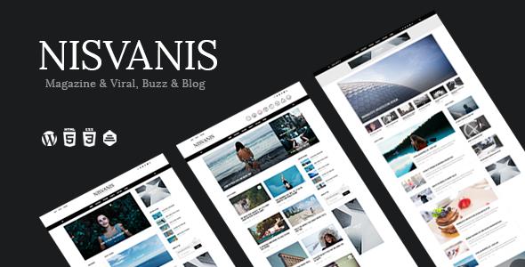 NISVANIS – 3 in 1 Magazine & Viral, Buzz & Blog Theme