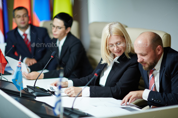 Politicians at work - Stock Photo - Images