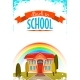 Back To School Cartoon Poster. Vector Illustration - GraphicRiver Item for Sale