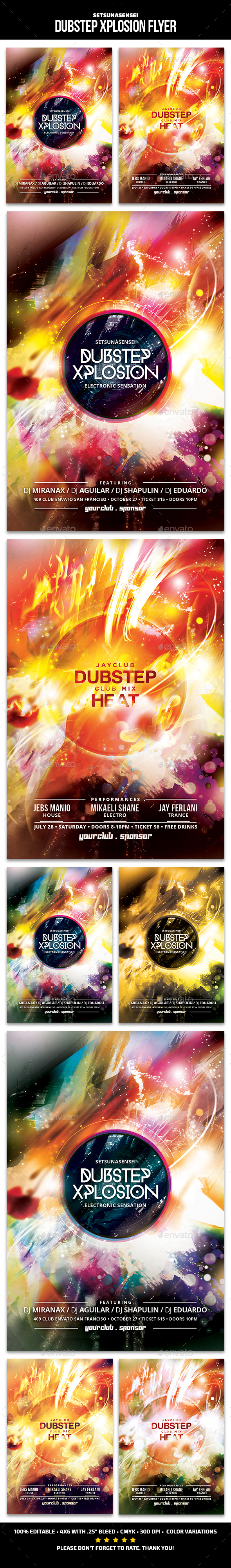 Dubstep Xplosion Flyer - Clubs & Parties Events