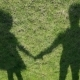 Shadows Man And Girl Over Grass - VideoHive Item for Sale