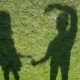 Shadows Make a Heart Over Grass - VideoHive Item for Sale