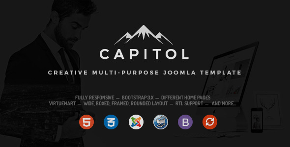 Capitol - Creative Multipurpose Joomla Template