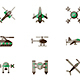 Unmanned robots flat color vector icons - GraphicRiver Item for Sale