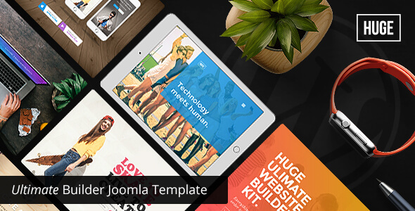 Huge -  Multipurpose Joomla Template
