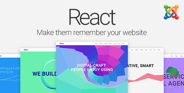 React – Material Design Joomla Template