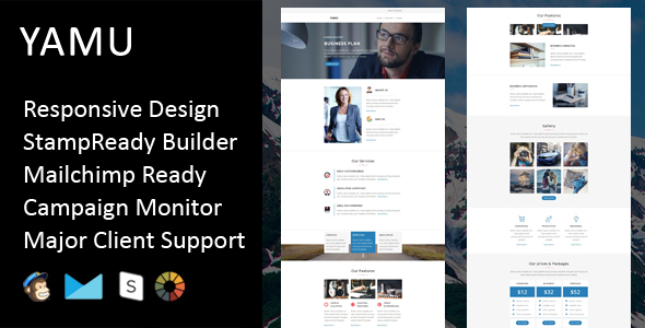 Yamu – Multipurpose Responsive Email Template + Stampready Builder