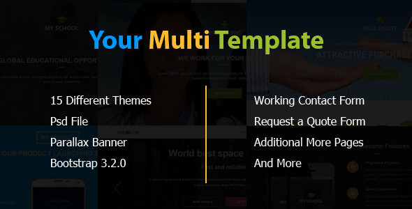 Your Multi Template - Landing Pages Marketing