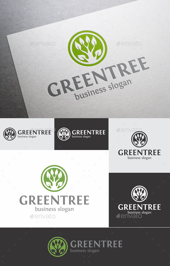 Green Tree - Nature Logo Templates