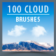100 High Resolution Cloud Brushes - GraphicRiver Item for Sale