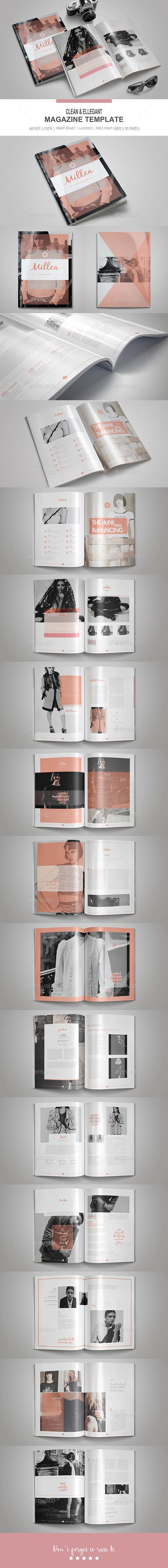 Clean & Elegant Magazine Template - Magazines Print Templates