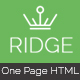 Ridge - One Page Multipurpose Responsive Html Template - ThemeForest Item for Sale