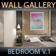Art Wall Gallery Mockup vol.1 - Front View Bedroom - GraphicRiver Item for Sale