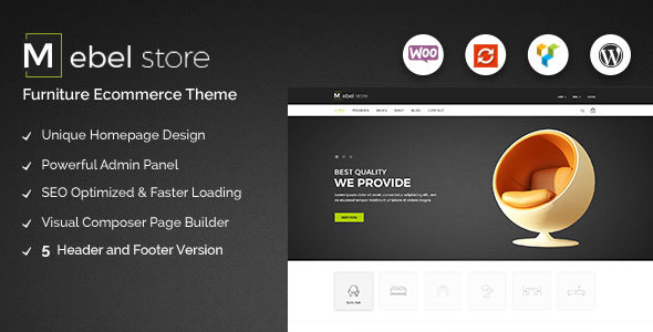 Mebel - Responsive Furniture & Book Store WordPress Theme - WooCommerce eCommerce