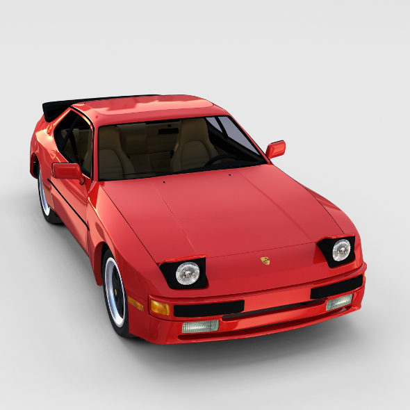 Porsche 944 with interior rev - 3DOcean Item for Sale