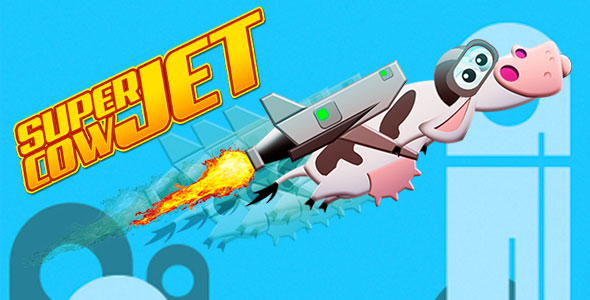 Super Cow Jet - HTML5 Casual Game - CodeCanyon Item for Sale