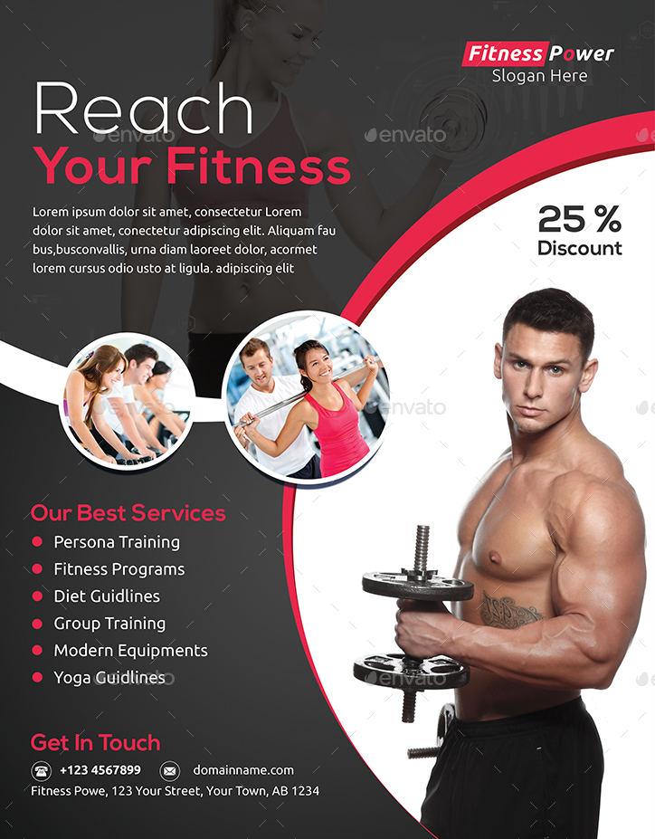 Fitness Flyer By Jpixel55 | Graphicriver
