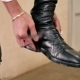 The Man Fasten a Belt On The Boots - VideoHive Item for Sale