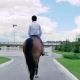 A Guy Rides On a Horse To The Arena - VideoHive Item for Sale