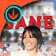 Vote Jane 2 Political Door Hanger Template