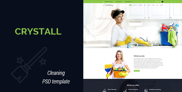 Crystall – Cleaning Service PSD Template