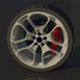 High Poly Sports Car Wheel