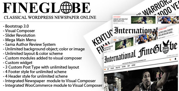 Fineglobe – Classic Newspaper Theme