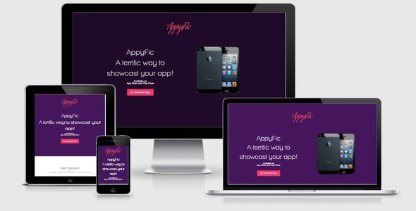 AppyFic Bootstrap App Landing Page
