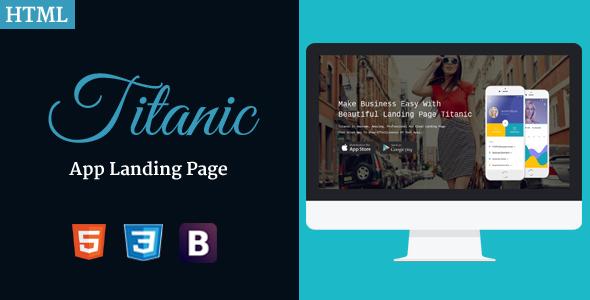 Titanic – App Landing Page