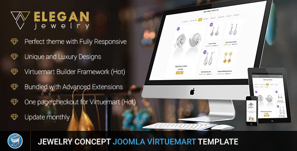 Elegan - Virtuemart Responsive Jewelry Template - VirtueMart Joomla