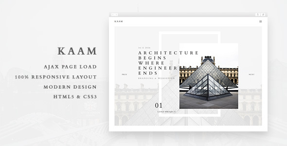Kaam – Responsive Ajax Creative Theme