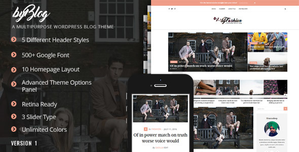 Byblog - Multipurpose Blog Theme