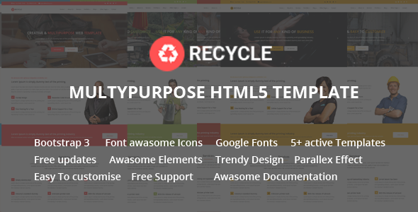 Recycle – Responsive Multipurpose HTML5 Template