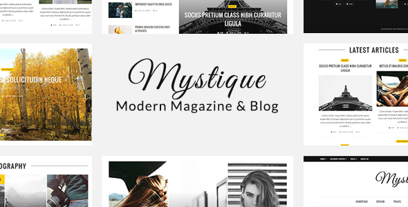 Mystique: Fast – Clean – Flexible WordPress Magazine News Blog Theme