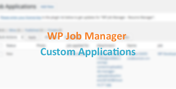 WP Job Manager - Submit Application Form - CodeCanyon Item for Sale
