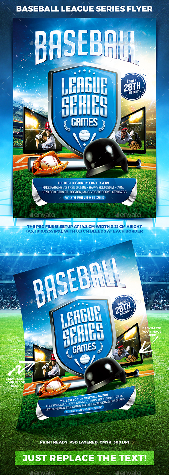 Baseball League Series Flyer vol.2 - Sports Events